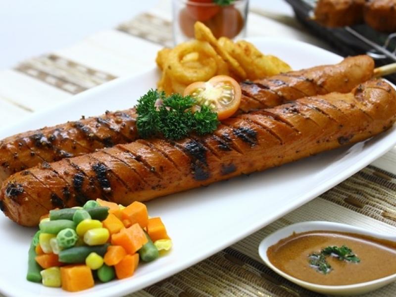 Bratwurst: salchicha típica alemana